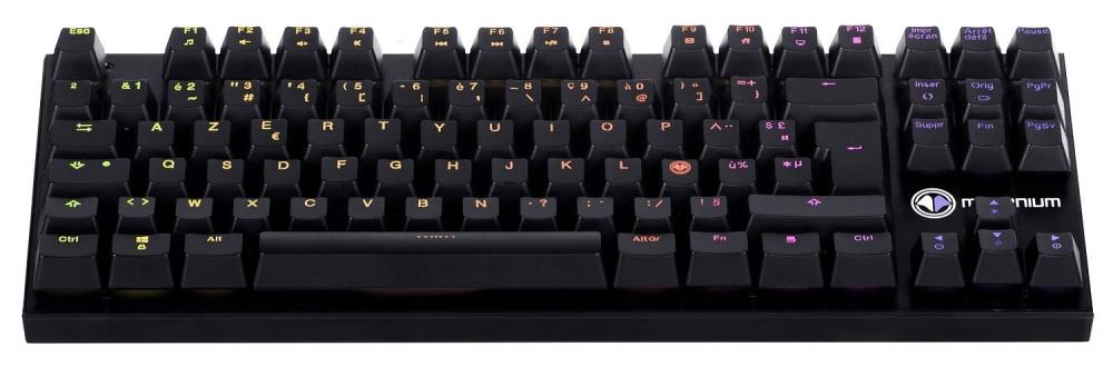 Millenium MT2 Mini Gaming-Tastatur Mechanisch, RGB, TKL, FR-Layout