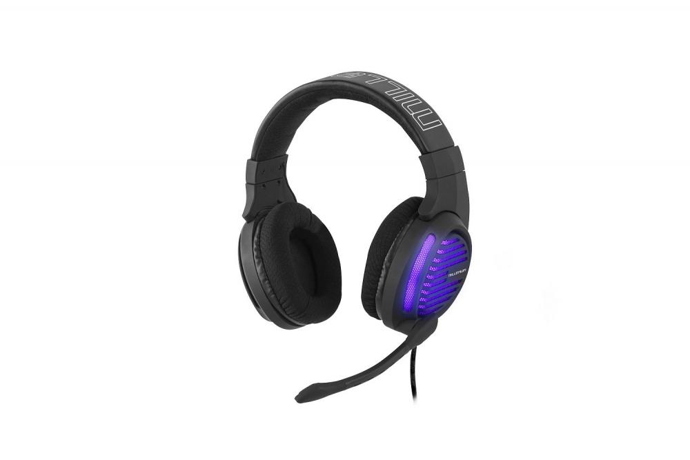 Millenium MH2 Advanced Gaming-Headset Stereo-Headset halboffen mit Mikrofon und RGB