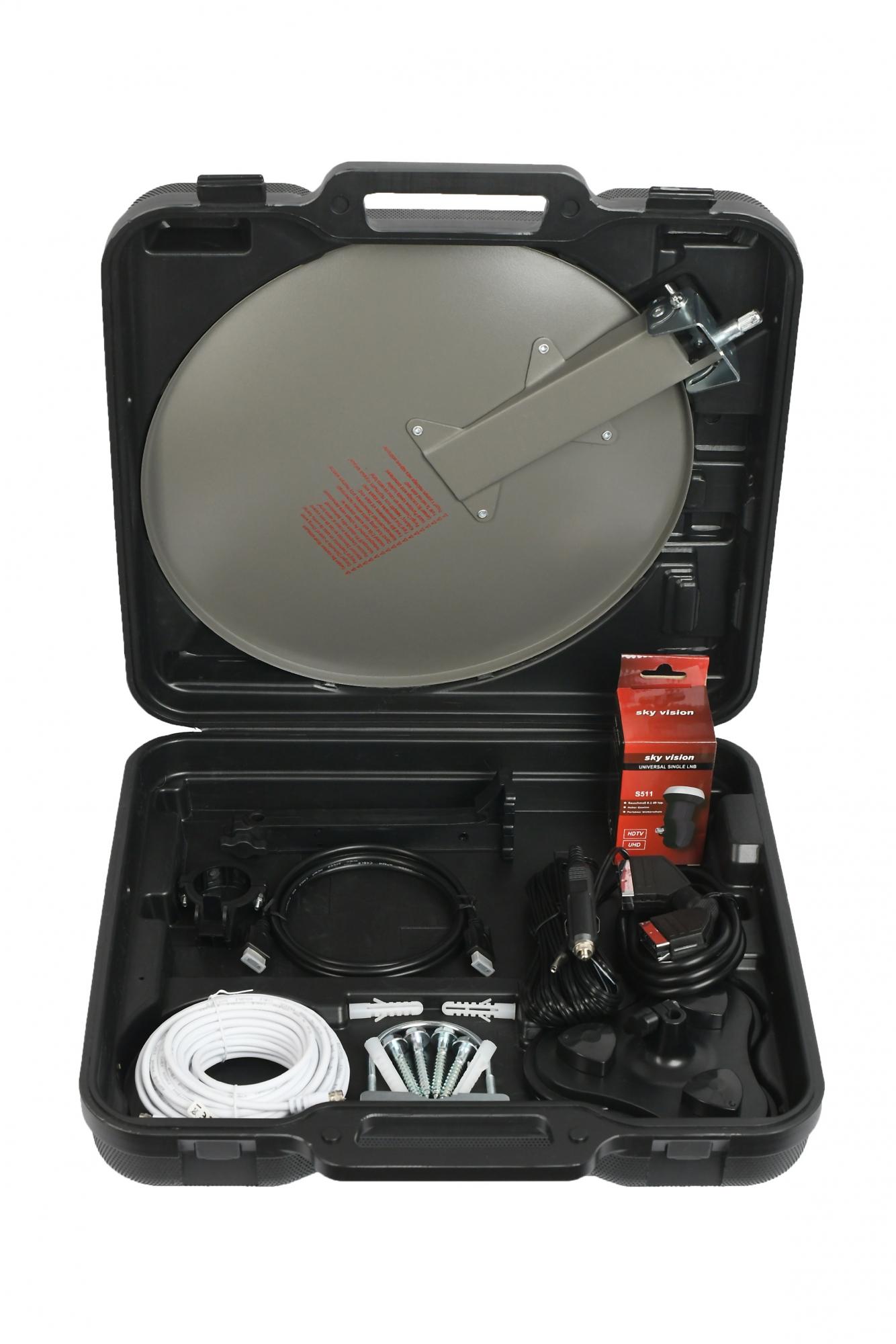 sky vision HD+ Camping-Koffer Komp. Satanlage