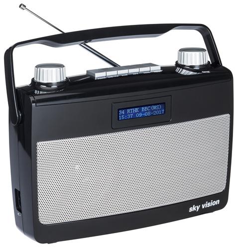 sky vision DAB 7S DAB+ Digitalradio mit Netz- und Batteriebetrieb
