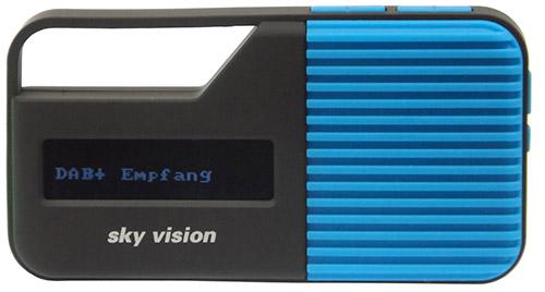 sky vision DAB 11 B - Blau DAB+ Digitalradio