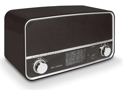 sky vision DAB 50 S Retro Digitalradio mit DAB+ und Bluetooth