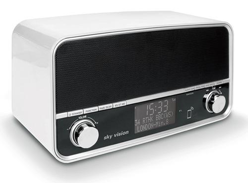 sky vision DAB 51 W Retro Digitalradio mit DAB+ und Bluetooth