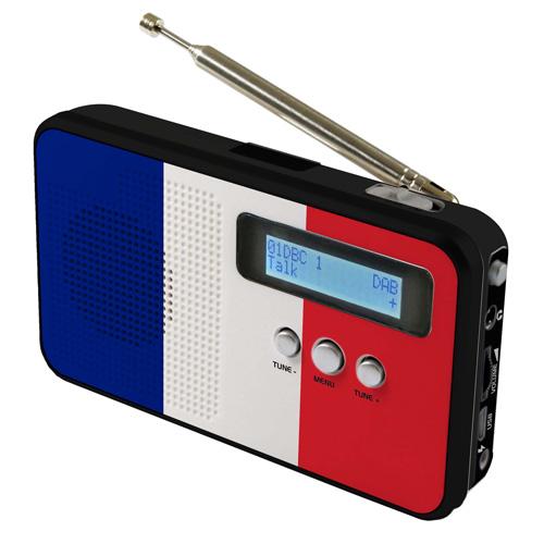 sky vision DAB 100 FR DAB+ Digitalradio mit Länderflagge