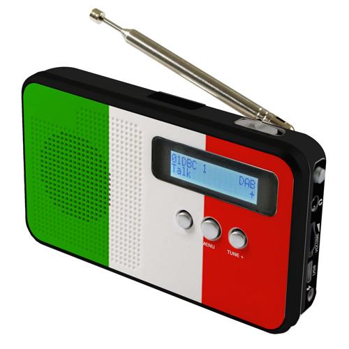 sky vision DAB 100 IT DAB+ Digitalradio mit Länderflagge