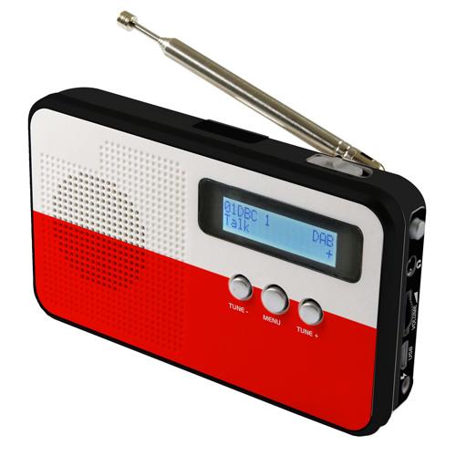 sky vision DAB 100 PL DAB+ Digitalradio mit Länderflagge