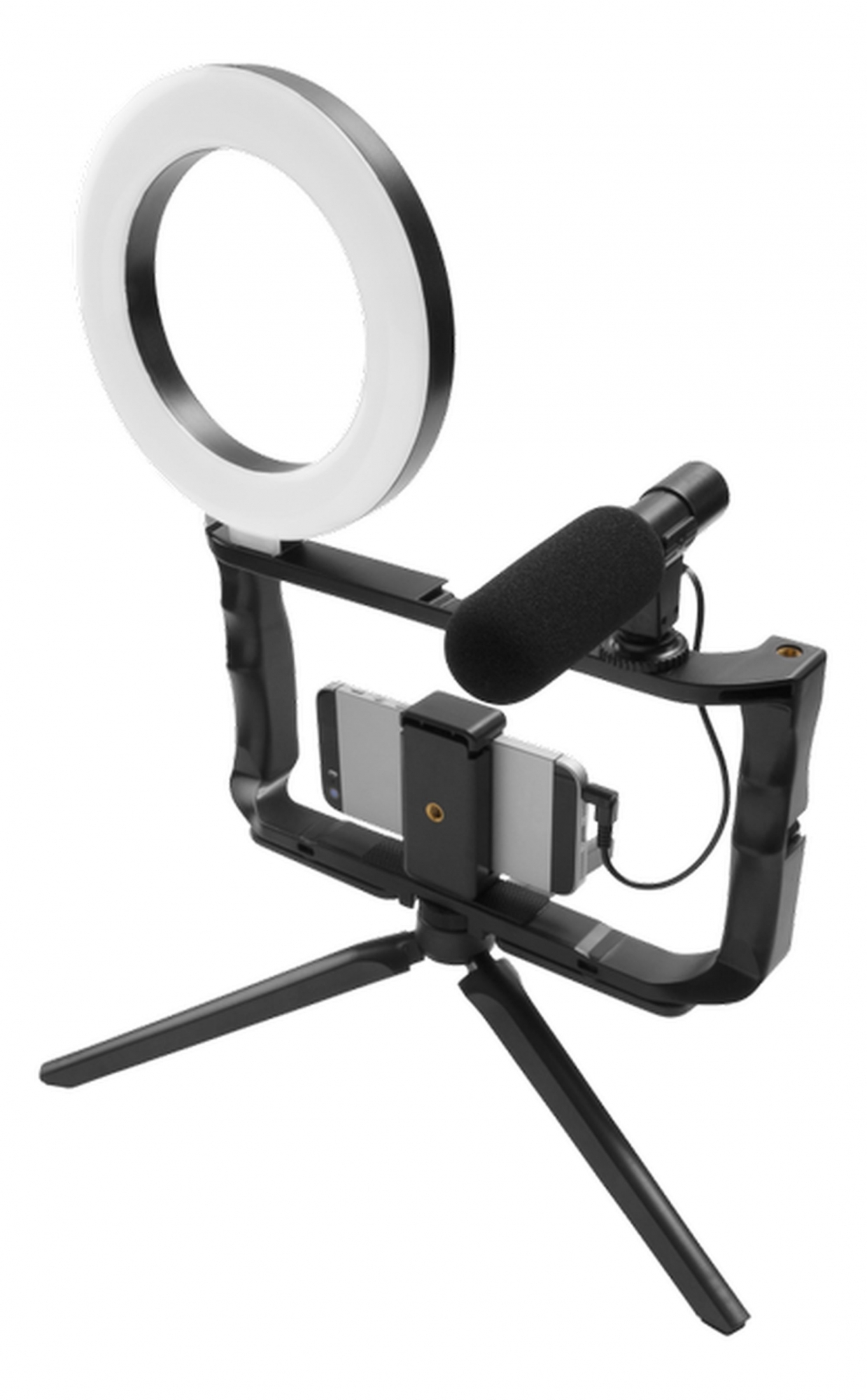 GadgetMonster GDM-1022 Vlogging Kit mit LED-Stativ und Mikrofon