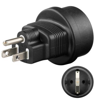 Goobay Schukokupplung > US Stecker Netzadapter