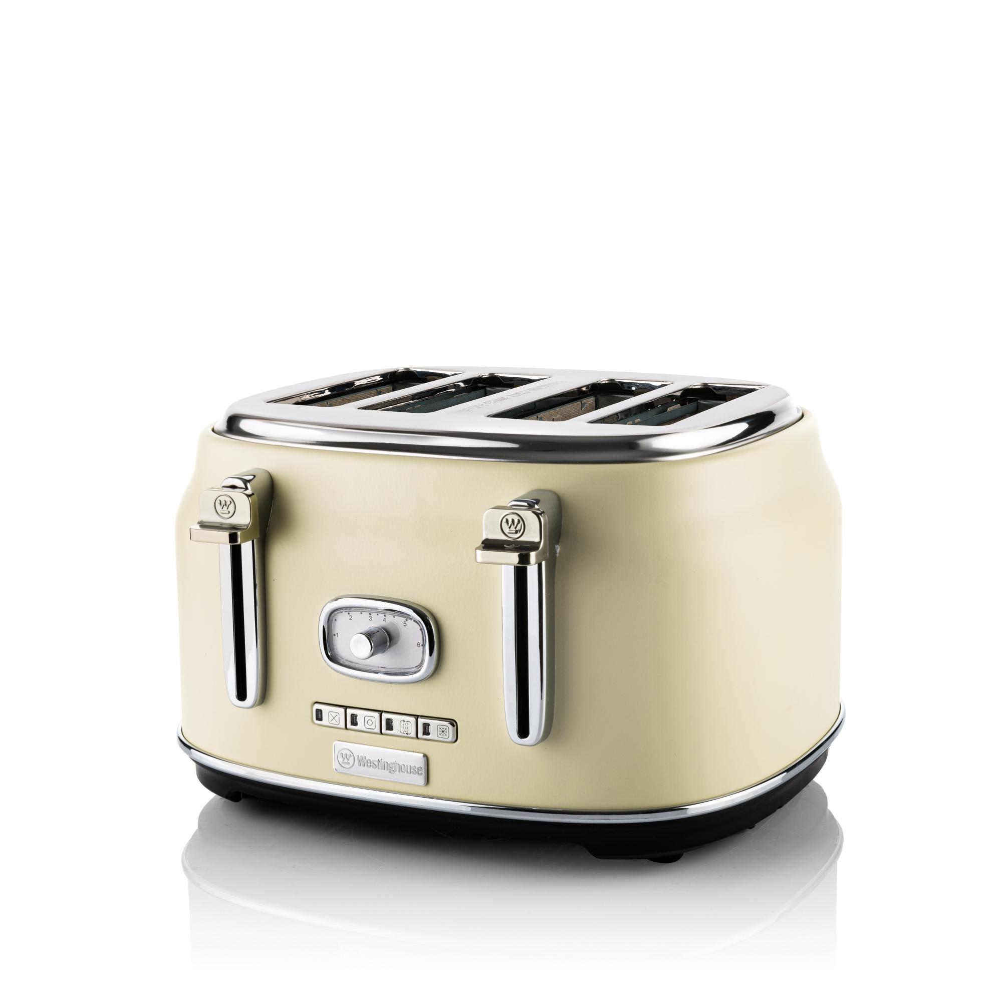 Westinghouse WKTT809WH Retro Serie Vier-Schlitz Toaster weiß