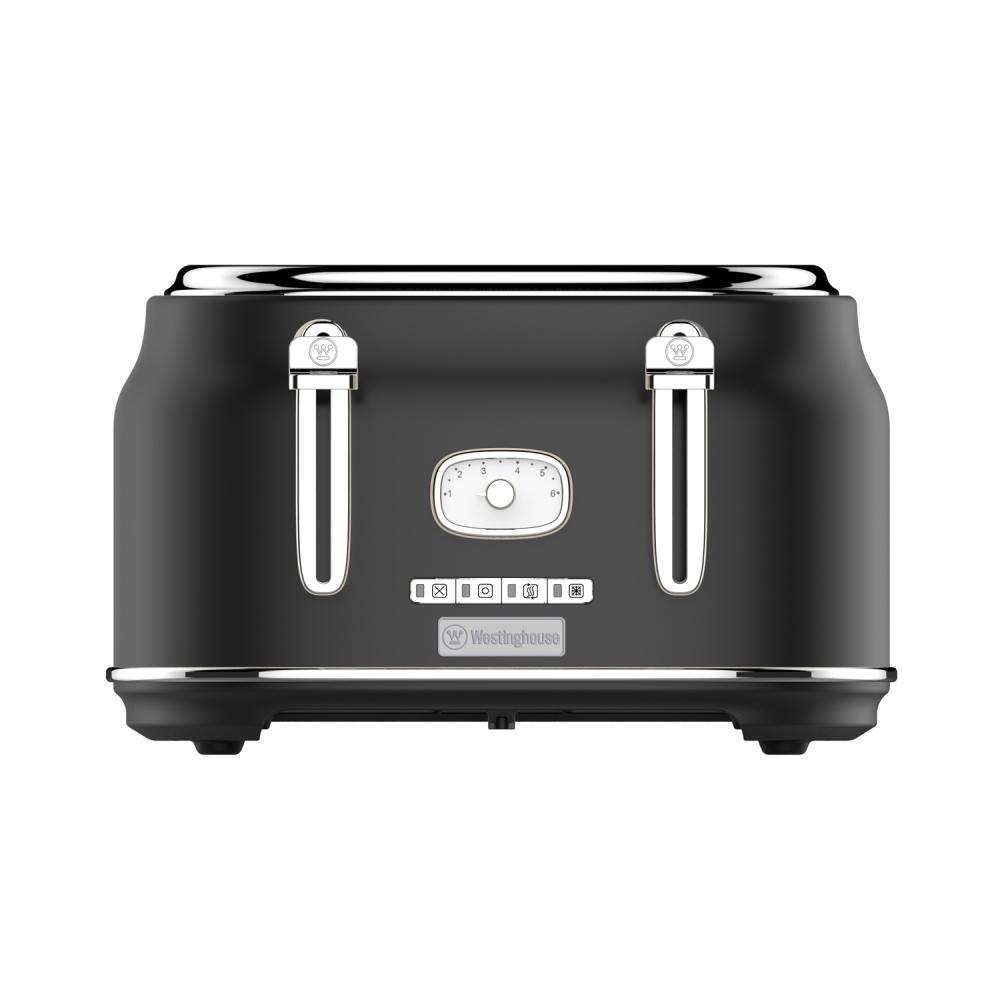 Westinghouse WKTT809BK Vier-Schlitz Toaster (Retroline) schwarz