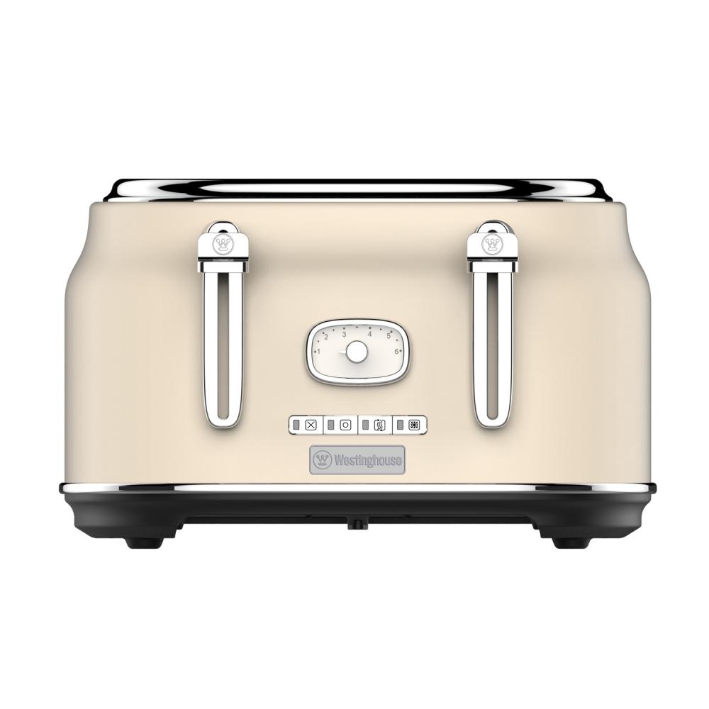 Westinghouse WKTT809WH Vier-Schlitz Toaster (Retroline) weiß
