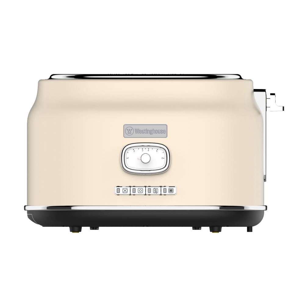 Westinghouse WKTT857WH Zwei-Schlitz Toaster (Retroline) weiß
