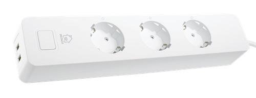 Deltaco SH-P03 USB2 SMART Home 3 Fach Steckdose