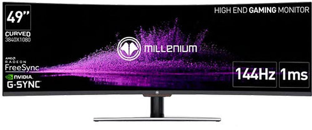 Millenium Gaming-Monitor MD49 Pro 49 Zoll WQHD curved rahmenlos